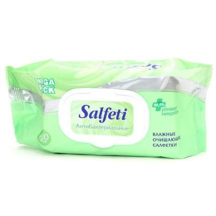 Салфетки влажные для очистки рук антибактериальные с клапаном (100 шт.) Salfeti antibacter