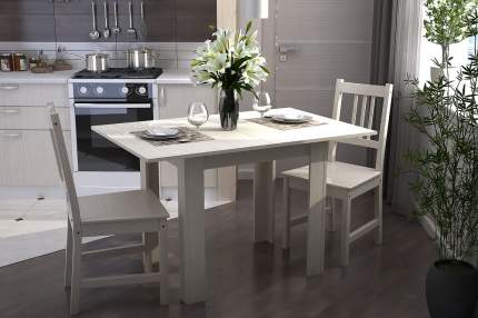 Кухонный стол Стендмебель Стендмебель раскладной Ясень шимо светлый, ЛДСП
