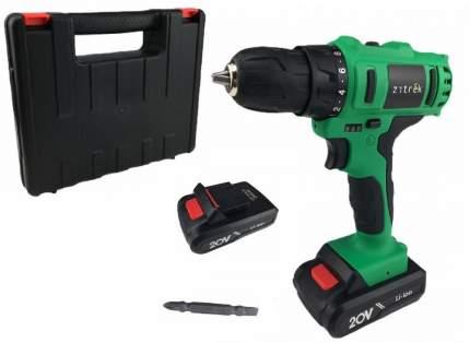 Дрель аккумуляторная Zitrek Greenpower 20-Li (20В, 2 Li-ion, кейс, бита) 063-4076