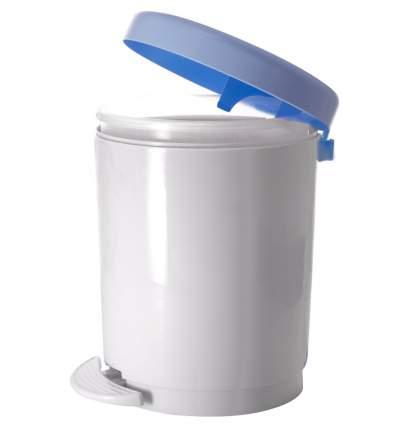 Ведро для мусора с педалью 6 л серо-голубой/ белый