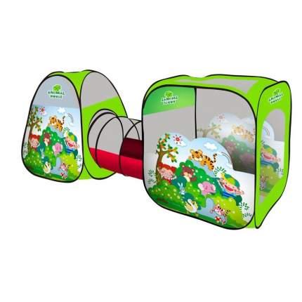 Палатка с туннелем B.Kids животные SG7015-E, зеленая
