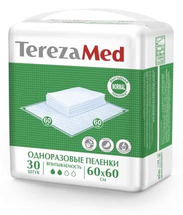 Пеленки одноразовые впитывающие TerezaMed Normal 60х60 см, 30 штук