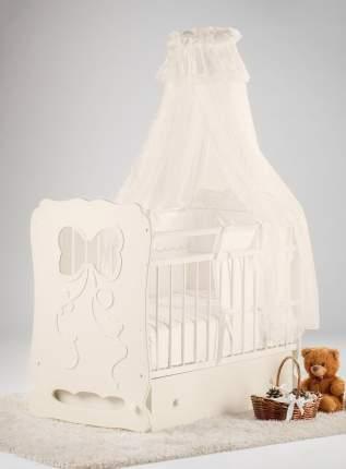 Кроватка детская Островок уюта Мальвина, слоновая кость