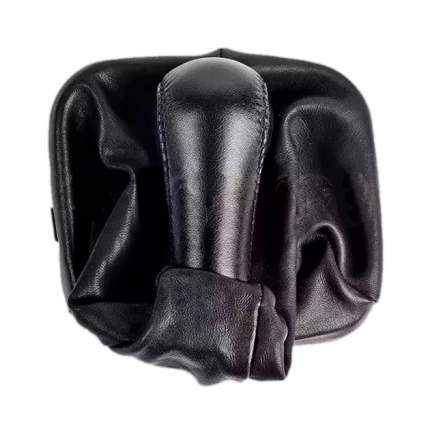 Ручка КПП с чехлом и рамкой ВАЗ 2113-15 натуральная кожа черная AZARD КПП00076