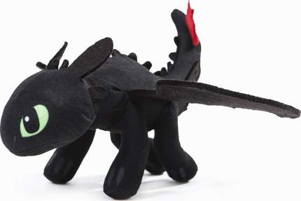 Мягкая игрушка CoolToys Беззубик дракон-фурия черная, 18 см