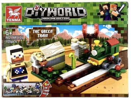 Конструктор Minecraft CoolToys Паровоз 105 деталей
