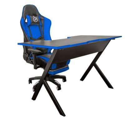 Компьютерный игровой стол JetFire чёрно-синий