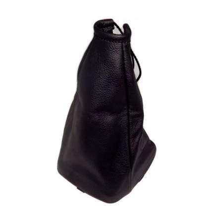 Чехол ручки КПП ВАЗ 1117-19 Калина натуральная кожа черный AutoBra 2181-Ч