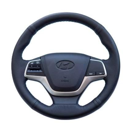 Оплетка руль+спицы Hyundai Solaris II 17- Elantra VI 15- AutoBra 4131