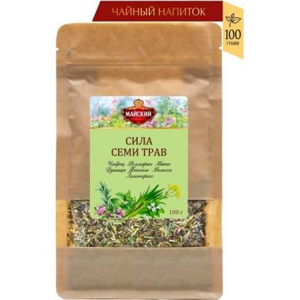 """Чайный напиток Майский """"Сила семи трав"""", травяной, крупнолистовой, 100 гр"""