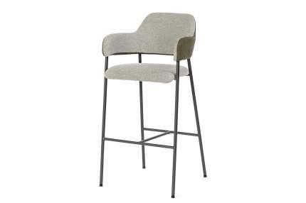 Полубарный стул Hoff Liliann 80333776, антрацит/темно-бежевый