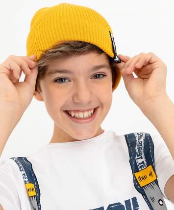 Шапка для мальчиков Button Blue, цв. желтый, р-р 54