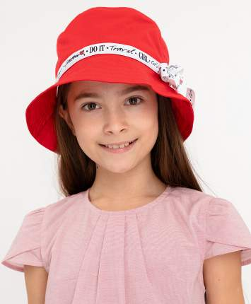 Шапка для девочек Button Blue, цв. красный, р-р 54
