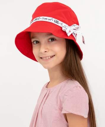 Шапка для девочек Button Blue, цв. красный, р-р 50-52