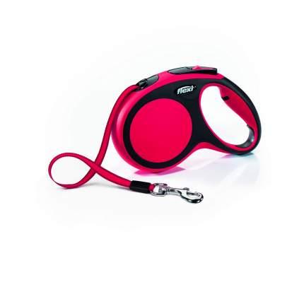 Поводок-рулетка для собак flexi New Comfort, лента, красная, M, до 25 кг, 5 м