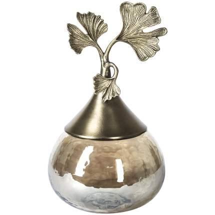 Ваза декоративная с крышкой Гарда Декор Гингко