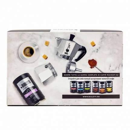 Гейзерная кофеварка Bialetti Moka Express silver на 3 порции и молотый кофе Milano 250гр