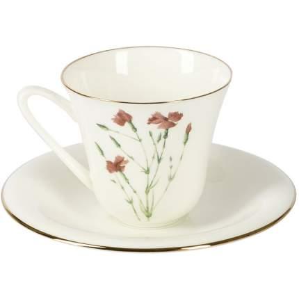 Чашка чайная с блюдцем ЛФЗ Сад. Гвоздика