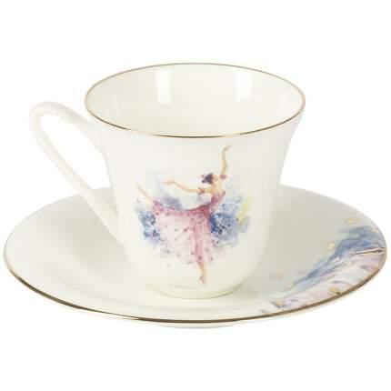 Чашка чайная с блюдцем ЛФЗ Сад. Фея сирени