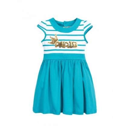 Платье для девочек Bonito kids, цв. бирюзовый, р-р 98