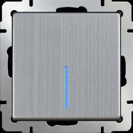 Выключатель Werkel WL02-SW-1G-LED глянцевый никель