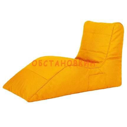 Бескаркасный модульный диван Папа Пуф Cinema Sofa 3XL, рогожка, Yellow