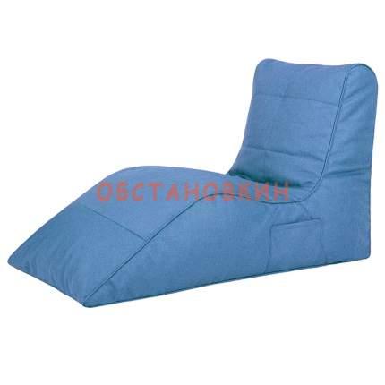 Бескаркасный модульный диван Папа Пуф Cinema Sofa 3XL, рогожка, Blue