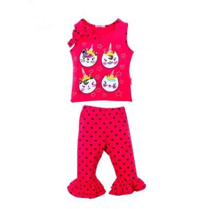 Комплект для девочек Bonito kids, цв. малиновый, р-р 122