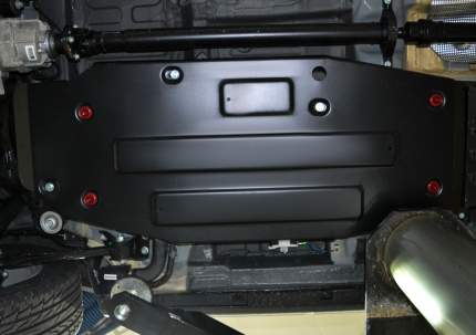 Защита топливного бака АвтоБроня для Geely Atlas 2018-, штампованная, сталь 1,8 мм, с кр