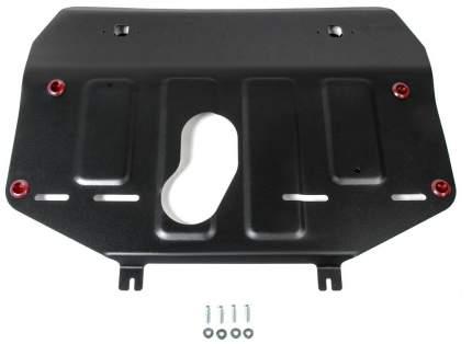 Защита картера и КПП АвтоБроня для Geely Atlas 2018-н.в., штампованная, сталь 1,8 мм, с кр