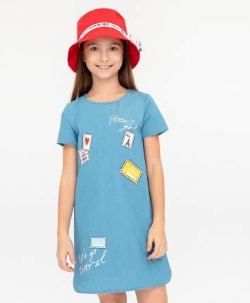 Платье для девочек Button Blue, цв. голубой, р-р 152