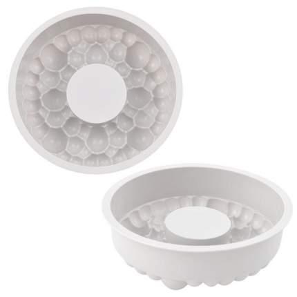 Силиконовая форма для муссовых тортов «Пузырьки» 24x24x5см.
