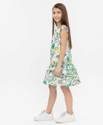 Платье для девочек Button Blue, цв. зеленый, р-р 104