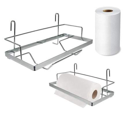 Полка для бумажных полотенец навесная на рейлинг 27x12x11,5 см