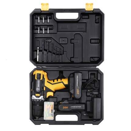 Аккумуляторная дрель-шуруповерт DEKO DKCD20FU-Li набор 63 инструментов в кейсе 063-4103