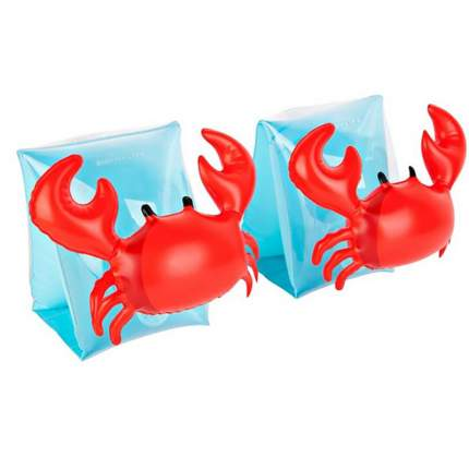 Нарукавники надувные детские Baziator красные Крабики