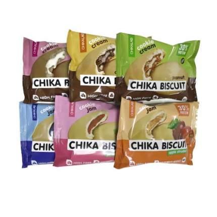 CHIKALAB, Chika Biscuit ассорти всех вкусов, 6 печенек
