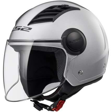 Шлем LS2 OF562 AIRFLOW LONG Gloss Silver, размер L
