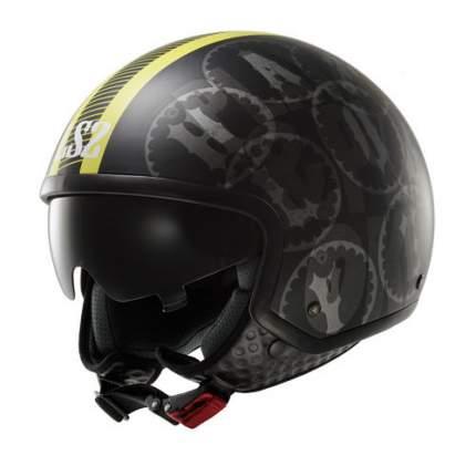Шлем LS2 OF561 DUO WAVE Matt Black/Hi-Vis Yellow, размер S