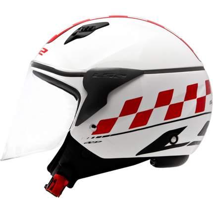 Шлем LS2 OF559 CAFE RACER Gloss White, размер M