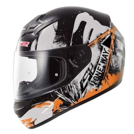 Шлем LS2 FF352 ROOKIE ONE BLACK Fluo Orange, размер 2XL