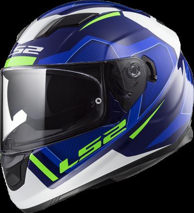 Шлем LS2 FF320 STREAM EVO AXIS BLUE WHITE, размер 2XL