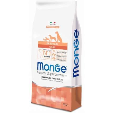 Сухой корм для собак Monge Speciality, все породы, лосось и рис, 12кг