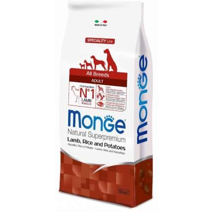 Сухой корм для собак Monge Speciality, все породы, ягненок, рис, картофель, 12кг