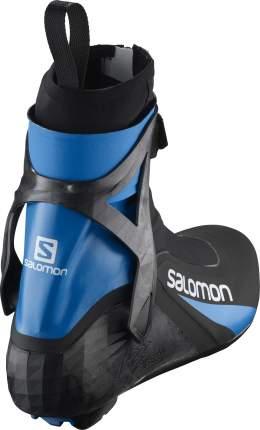 Ботинки для беговых лыж Salomon S/Race Carbon Skate Prolink 2021, black/blue, 42.5