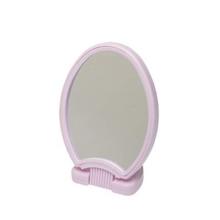Зеркало Dewal, настольное в розовой оправе