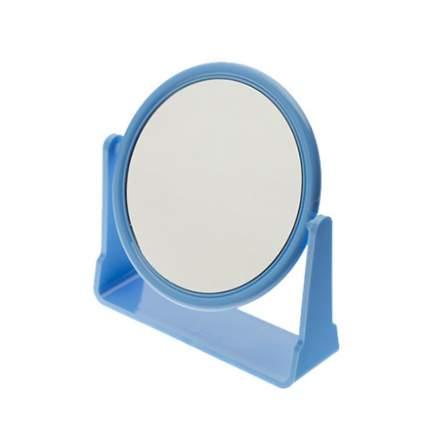 Зеркало Dewal, настольное в синей оправе