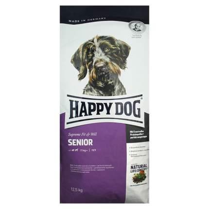 Сухой корм для собак Happy Dog Supreme Fit & Well Senior, птица, лосось, ягненок, 12,5кг