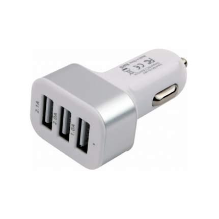 Автомобильный адаптер питания Cablexpert CAR17 зарядка 4.1А 3 USB-порта, белый