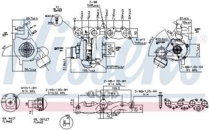 Турбокомпрессор двигателя Skoda Octavia/Vw Golf/Passat/ Touran 2.0tdi Nissens 93135